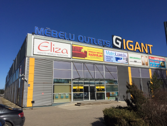 Mēbeļu outlets Gigant furniture stores in Latvia